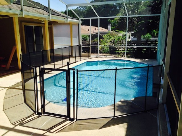 Self Latching Baby Barrier Volusia Pool Fence