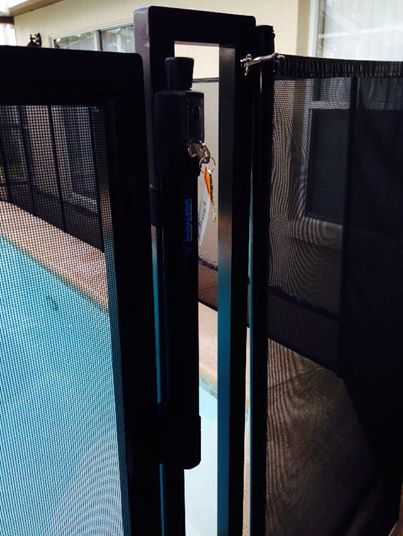 Self Latching Gate Baby Barrier Volusia Pool Fence